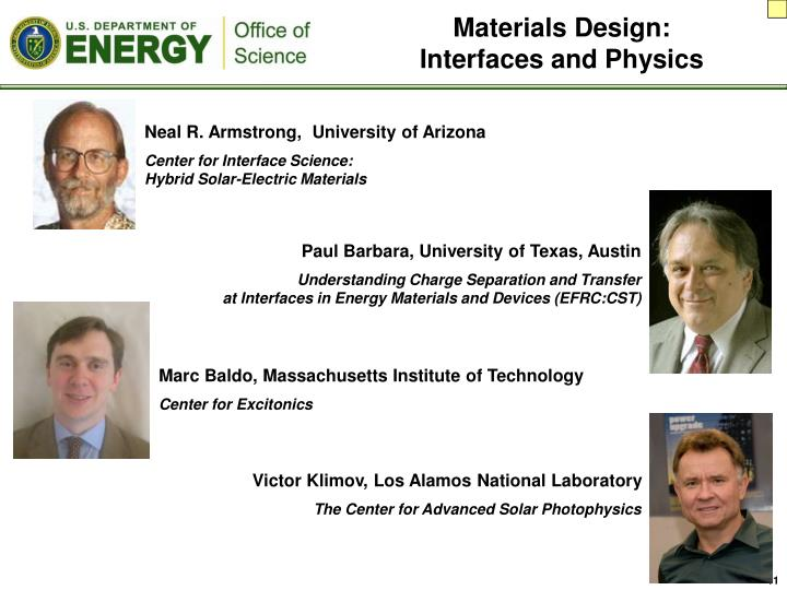 Materials Design: