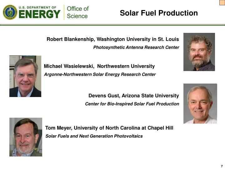Solar Fuel Production