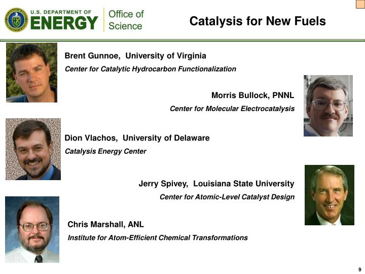 Catalysis for New Fuels