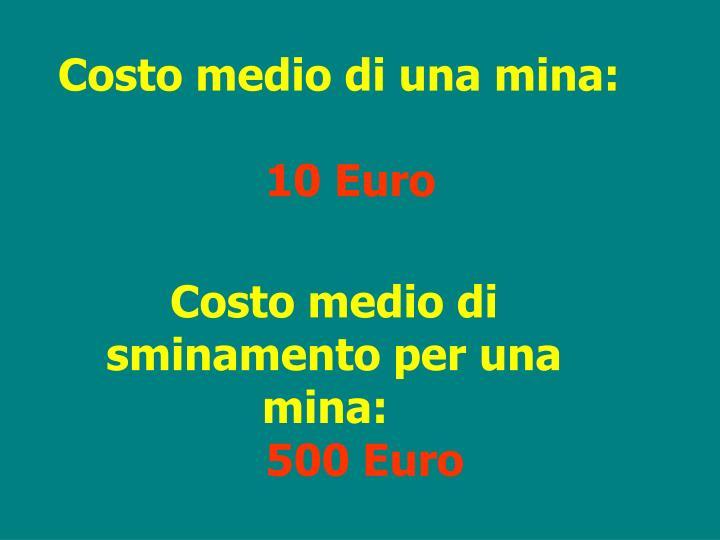 Costo medio di una mina: