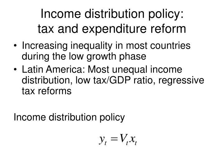 Income distribution policy: