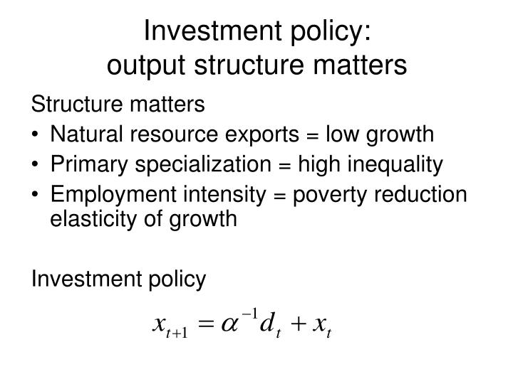 Investment policy:
