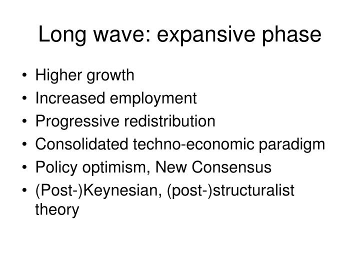 Long wave: expansive phase