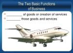 the two basic functions of business