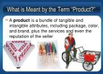 what is meant by the term product