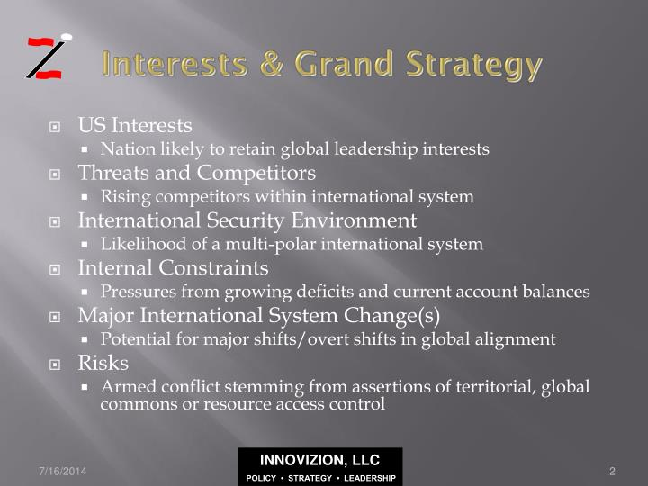 Interests grand strategy