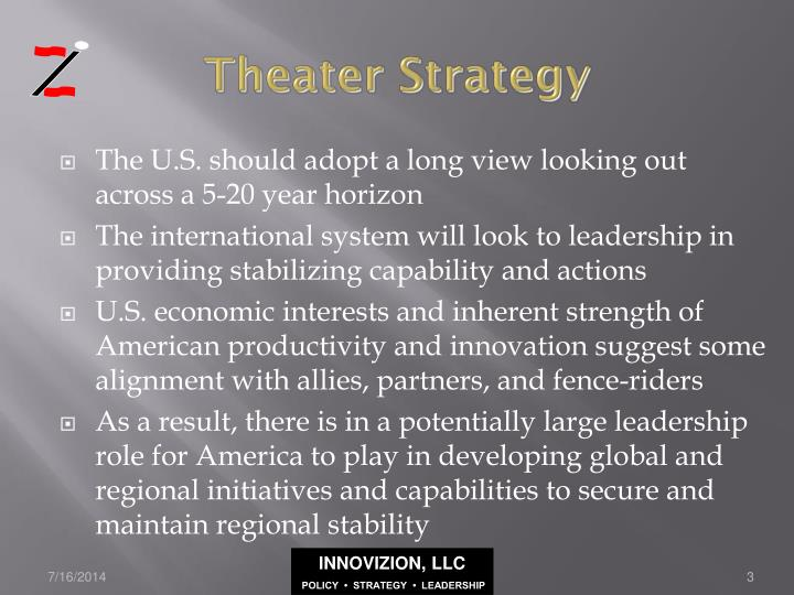Theater strategy
