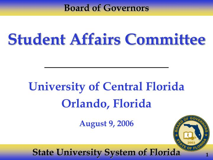 student affairs committee n.