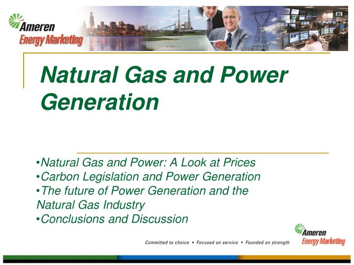 natural gas and power generation n.