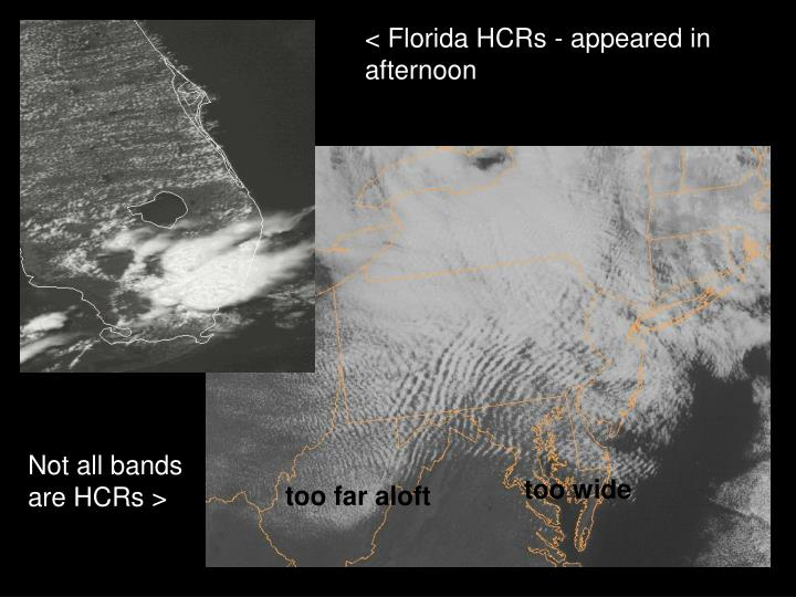 < Florida HCRs - appeared in