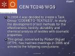 cen tc248 wg99