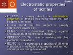 electrostatic properties of textiles