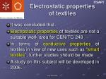 electrostatic properties of textiles1