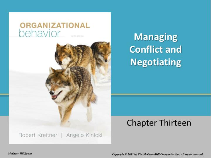 managing conflict and negotiating n.