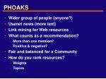 phoaks