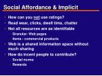social affordance implicit