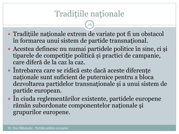 Tradițiile naționale