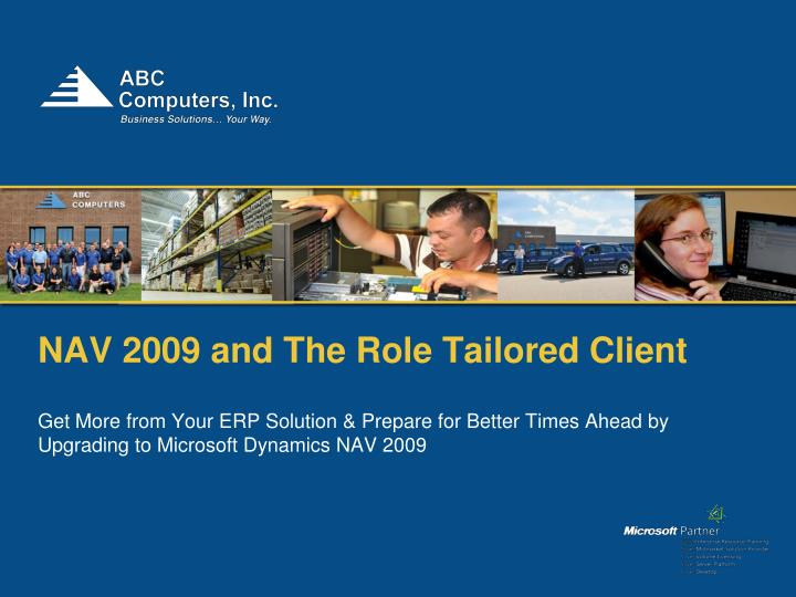 nav 2009 and the role tailored client n.