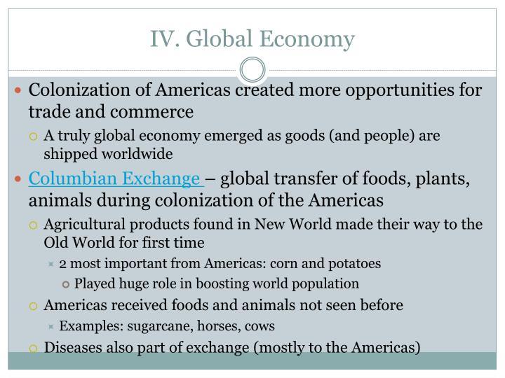 IV. Global Economy