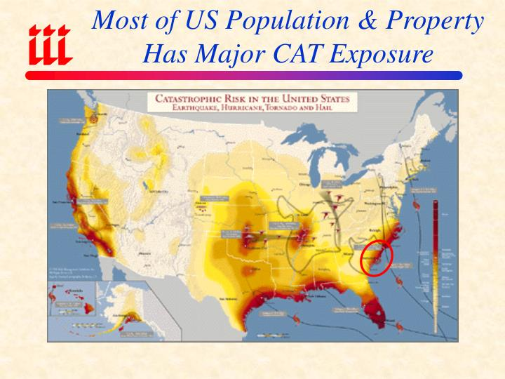 Most of US Population & Property Has Major CAT Exposure