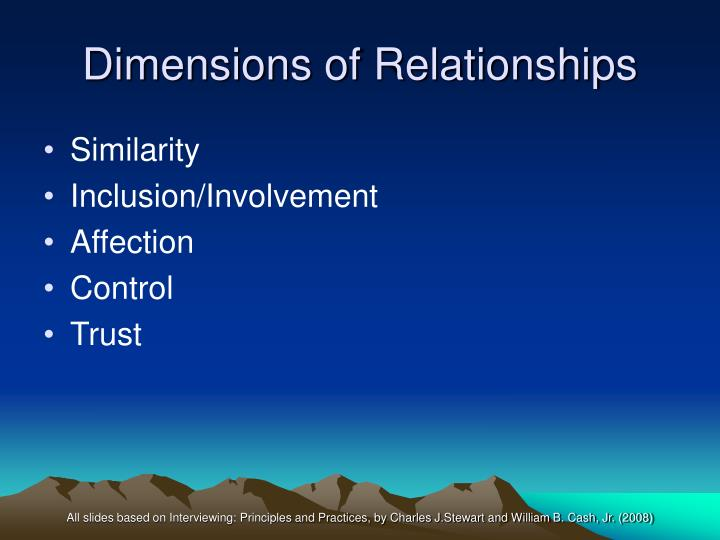 Dimensions of Relationships