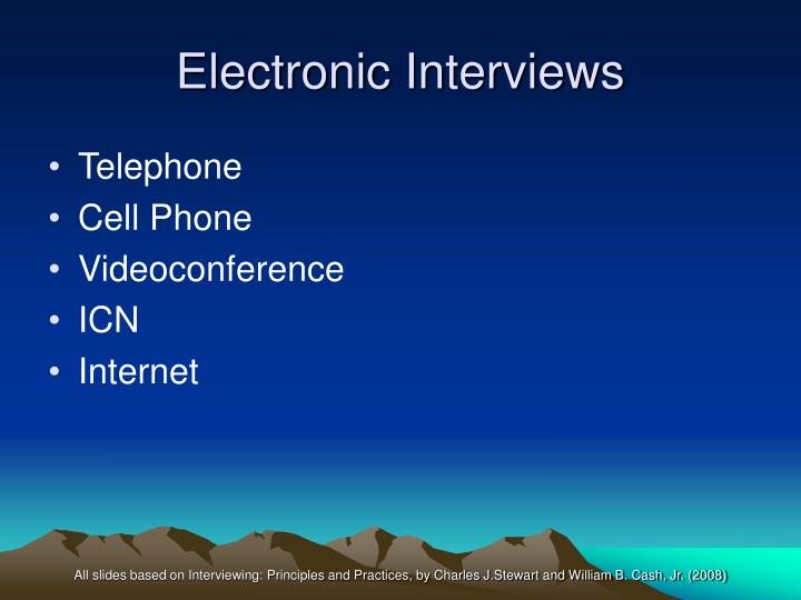 Electronic Interviews