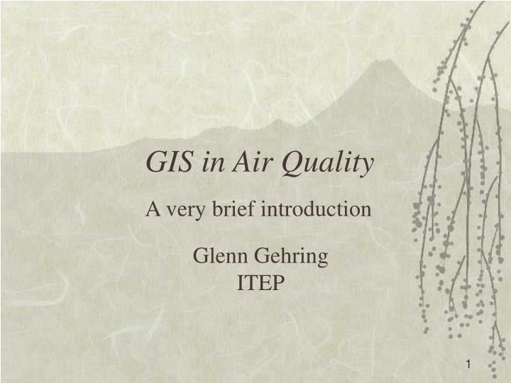 Gis in air quality