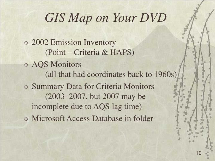 GIS Map on Your DVD