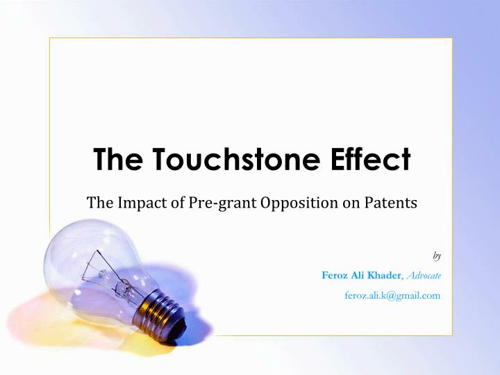 the touchstone effect n.