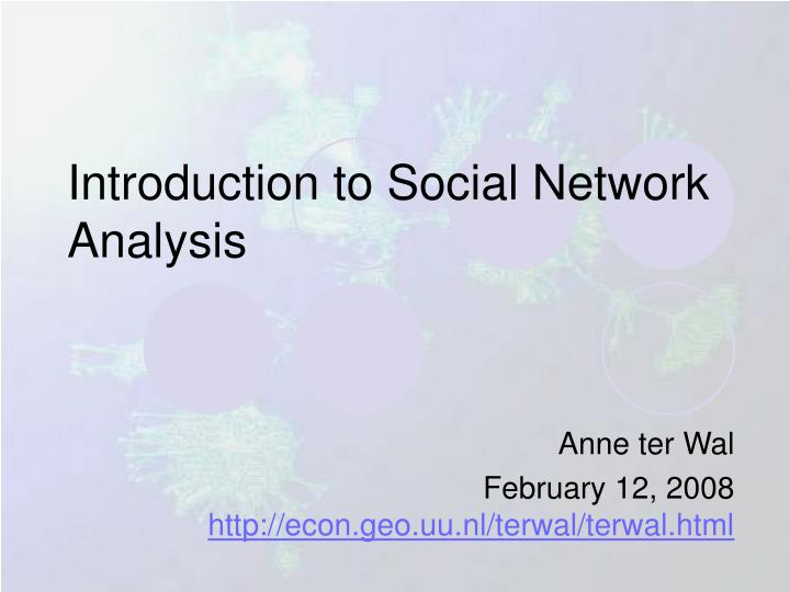 introduction to social network analysis n.