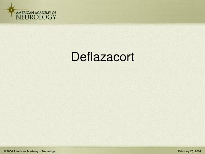 Deflazacort