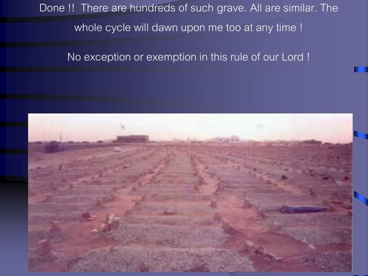 Done !!  There are hundreds of such grave. All are similar. The whole cycle will dawn upon me too at any time !