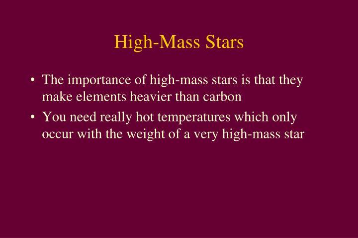 High-Mass Stars