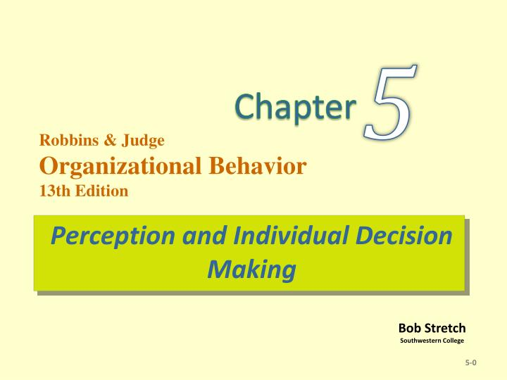 perception and individual decision making n.