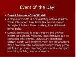 event of the day