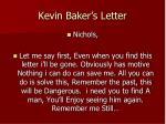 kevin baker s letter