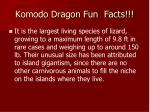 komodo dragon fun facts