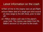 latest information on the crash