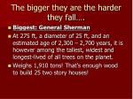 the bigger they are the harder they fall