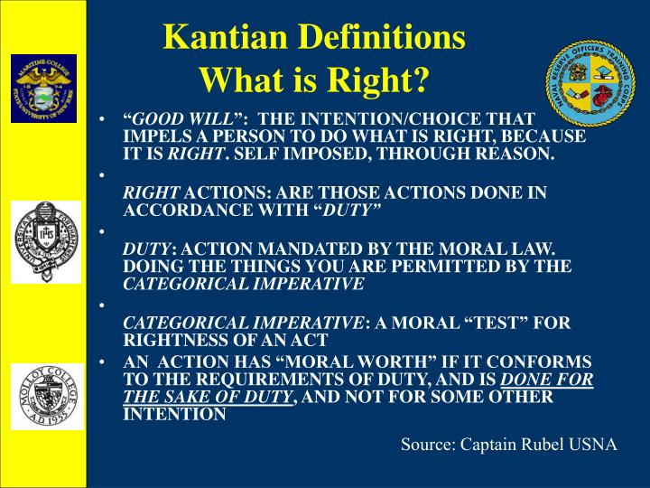 Kantian Definitions