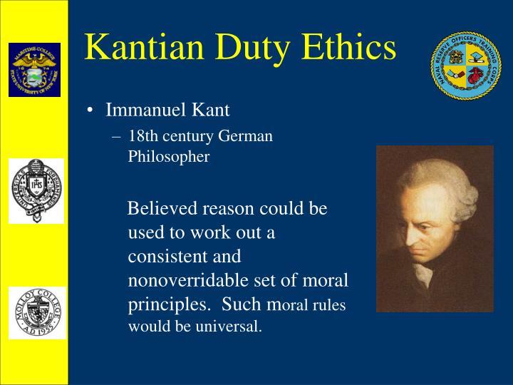 Kantian duty ethics1