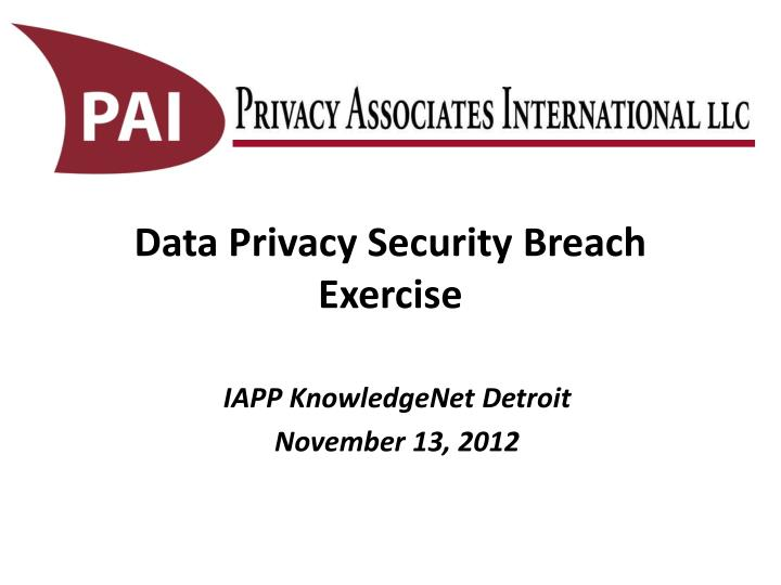 data privacy security breach exercise n.