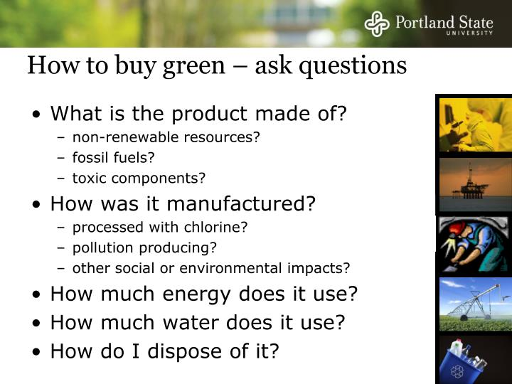 How to buy green – ask questions