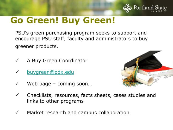 Go Green! Buy Green!