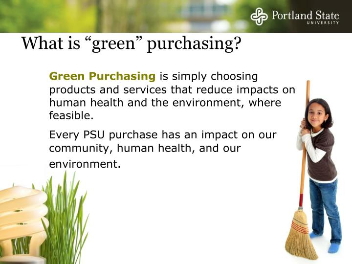 What is green purchasing