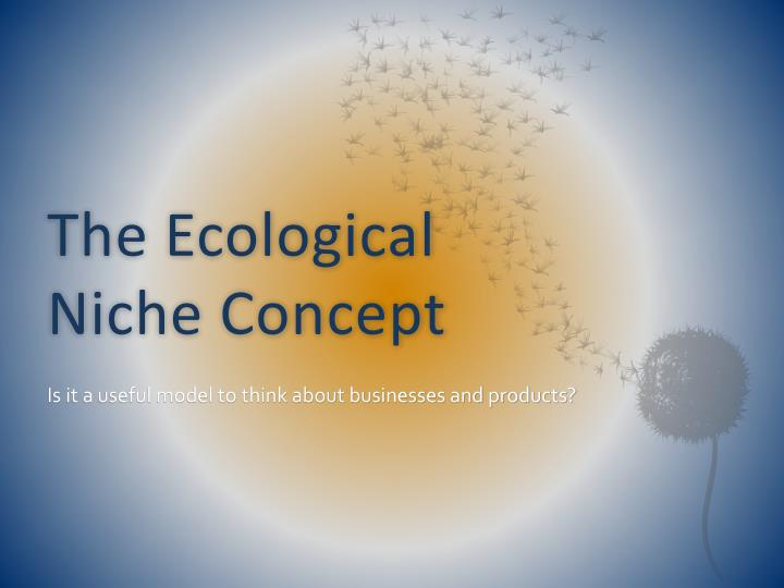 the ecological niche concept n.