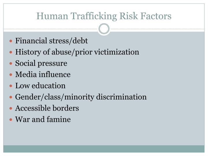 human trafficking risk factors