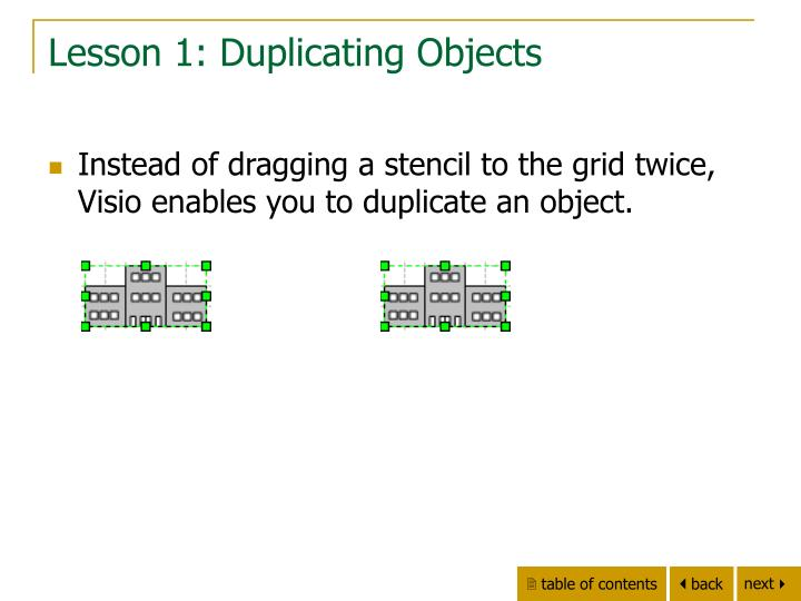Lesson 1: Duplicating Objects