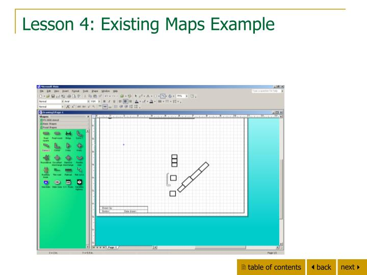 Lesson 4: Existing Maps Example
