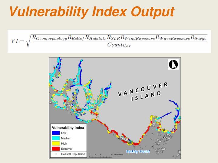 Vulnerability Index Output